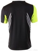 koszulka do biegania męska Adidas Colorblock Tee Czarna