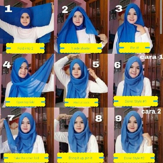 Square Hijab tutorial: 2 styles