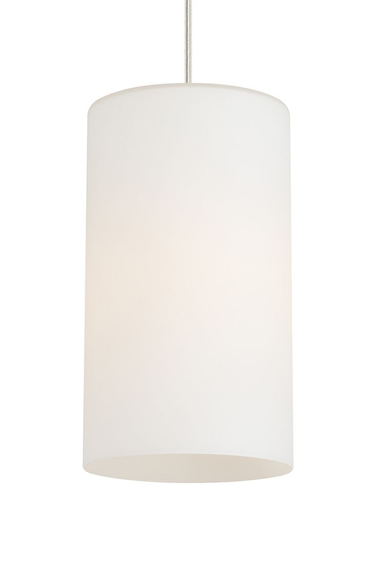 The Mati C11 White pendant light by LBL Lighting- is subtle enough to use in any room of the home. This cylindrical lighting fixture is easily made energy-efficient by ordering with an LED bulb, and its hand-blown glass design has understated appeal that would easily fit into modern, contemporary and transitional décor.  In a Satin Nickel Finish.