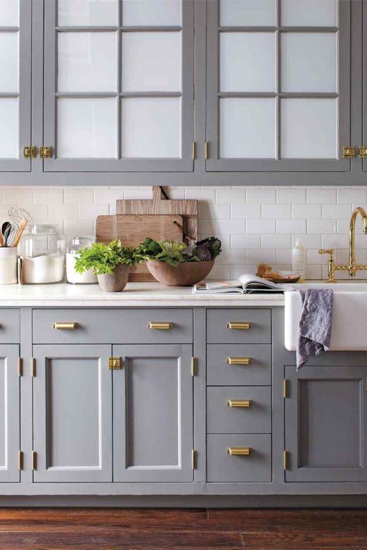 Beautiful kitchen and hardware. 7 Solutions for Your Small-Kitchen Problems  via @PureWow