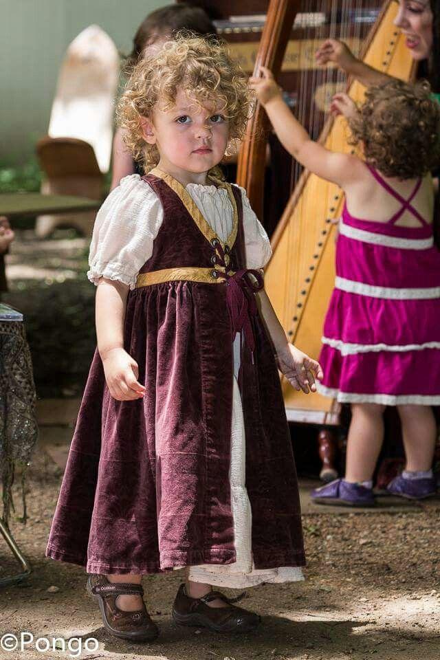 Renaissance Fair Costume For Little Girl