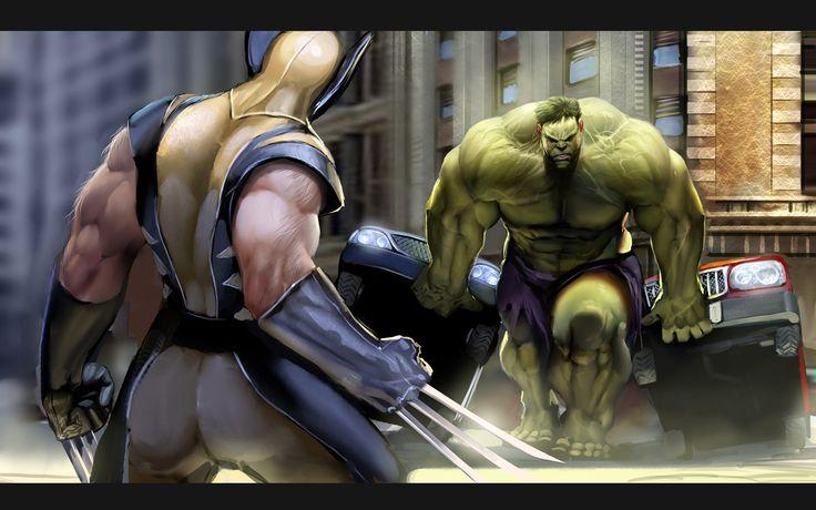 wolverine vs hulkComics Art, X Men, Xmen, Comics Character, Comics Book, Marvel Comics, Incr Hulk, Super Heroes, Superhero