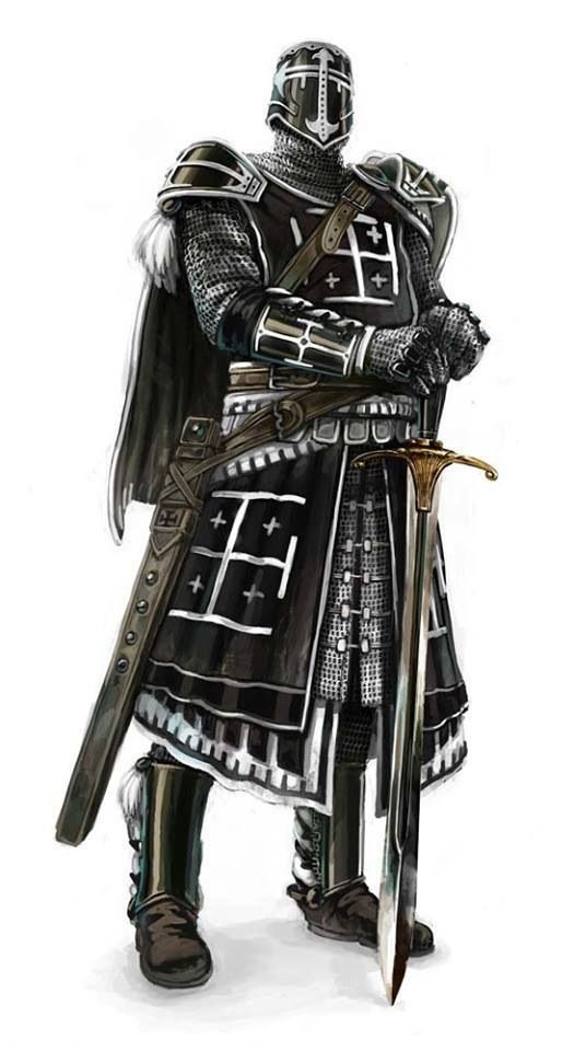 """""""Beware the knight whom is robed in black armor... they say his sword is cursed by the God's of death..."""""""