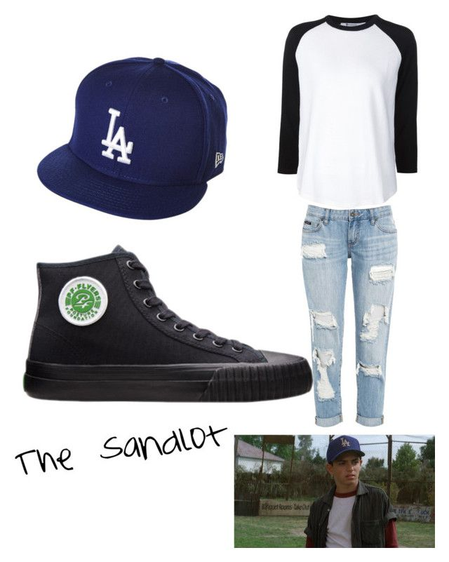 """The Sandlot"" by annajaxon2003 ❤ liked on Polyvore featuring PF Flyers, T By Alexander Wang and New Era"
