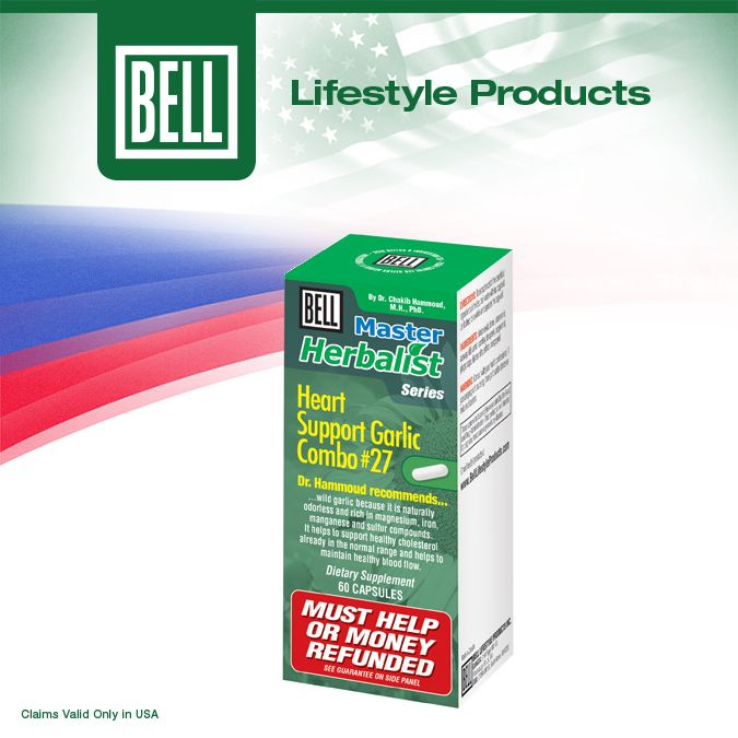 Bell Heart Support Garlic Combo nourishes the heart with some of nature's most precious herbs. In addition to garlic extract, Bell Heart Support Garlic Combo contains herbs like nigella extract and celery extract to make sure your natural cardio function is at its best! Learn more about Bell Heart Support Garlic Combo on our website today. http://www.belllifestyleproducts.com/27-heart-support-garlic-extract.htm
