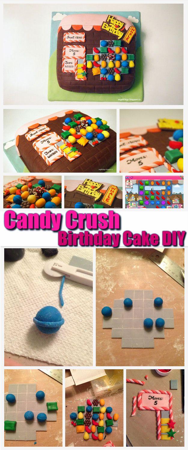 Candy Crush Birthday Cake DIY #Birthday #Cake #DIY http://www.diyhomestips.com/121/food/candy-crush-birthday-cake-diy