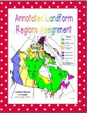 Geography - Junior High and High School - Annotated Landfo
