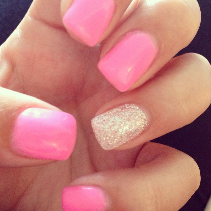 nails shellac nails color pink glitter gel nails design pink gel nails