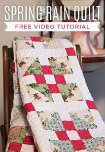 Make a Spring Rain Quilt with this Step-by-Step Video Tutorial with Jenny Doan!