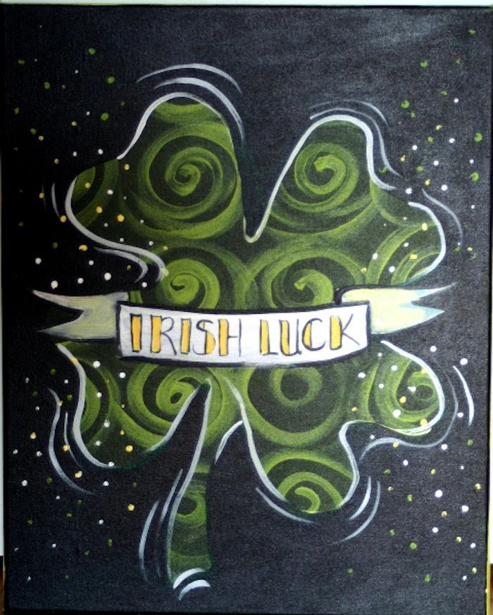 shamrock canvas painting - Google Search