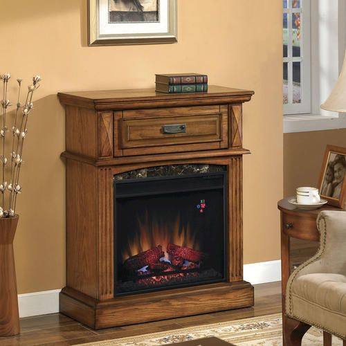 Lakewood electric fireplace mantel in premium oak for Lakewood wood stove