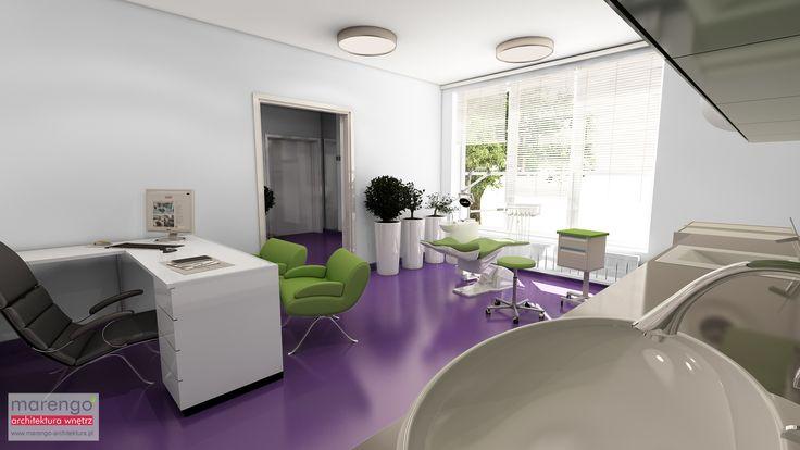 Projekt gabinetu stomatologicznego w Rzeszowie, więcej na: http://marengo-architektura.pl/portfolio/projekt-gabinetu-stomatologicznego/