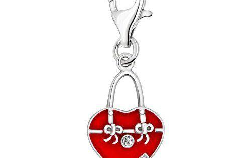 Oscaro Silver Charms Argent 925/1000 Coeur Sac à main rouge: Les charmes de haute qualité en argent Oscaro sont en argent 925 et ont un…