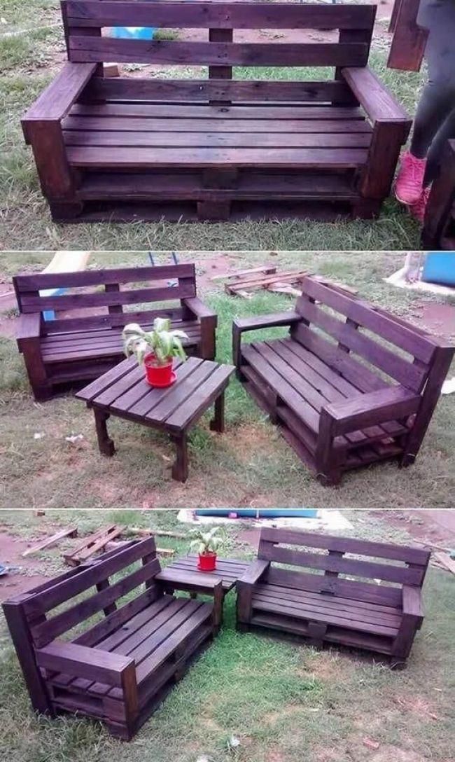 Decoracao Com Moveis De Paletes Para A Casa Moveis In 2018 Pinterest Pallet Outdoor Pallet Projects Pallet Furniture Outdoor Table Pallet Patio Furniture