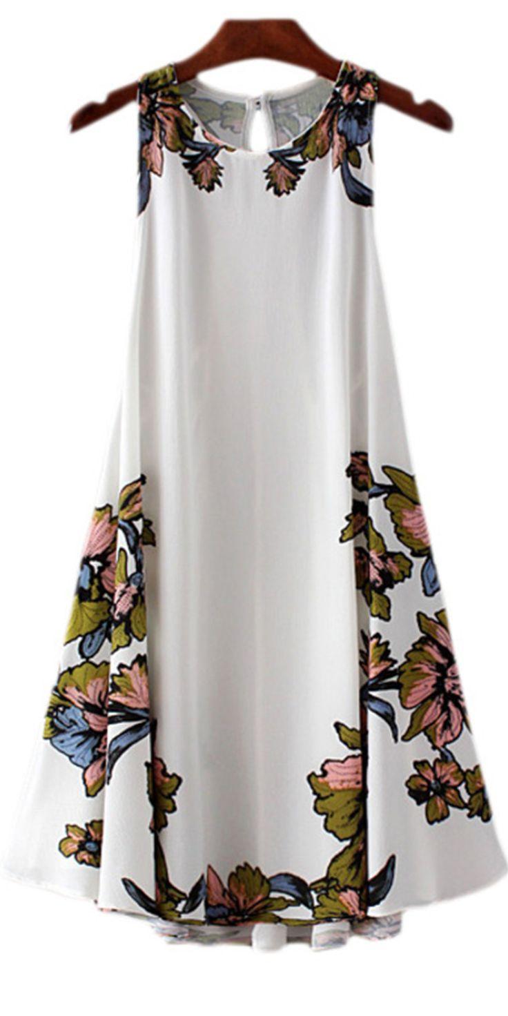Beige Print Dip Hem Lace Up Backless Beach Dress