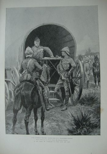 Lord Roberts writing despatches. Boer War