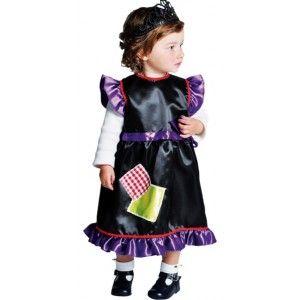 costume de deguisement bébé sorcière en satin deluxe, création Magic by Freddy's