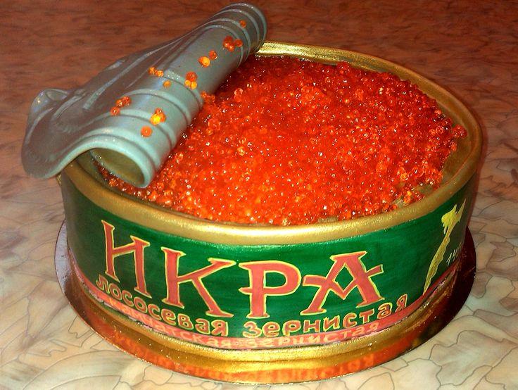 Красная икра #торт_на_заказ_киев #день_рождения #комбинированный_торт