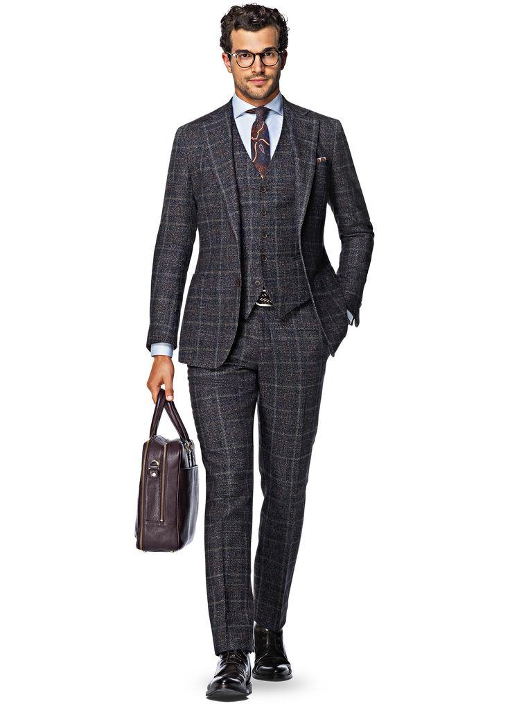 Suit_Blue_Check_Hudson_P4724