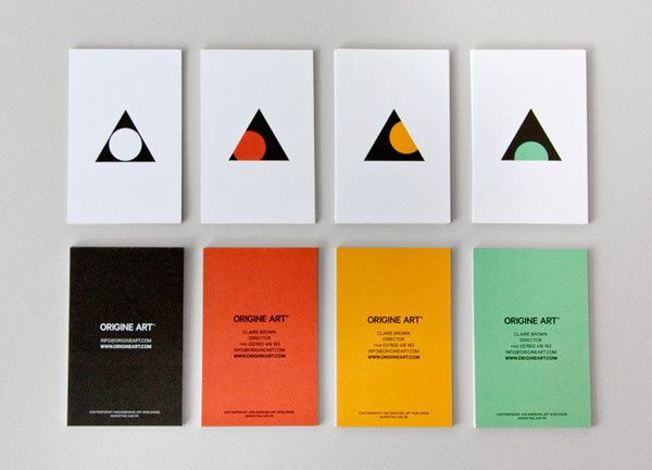 Business card design for Origine Art by Ascend studio in Palette