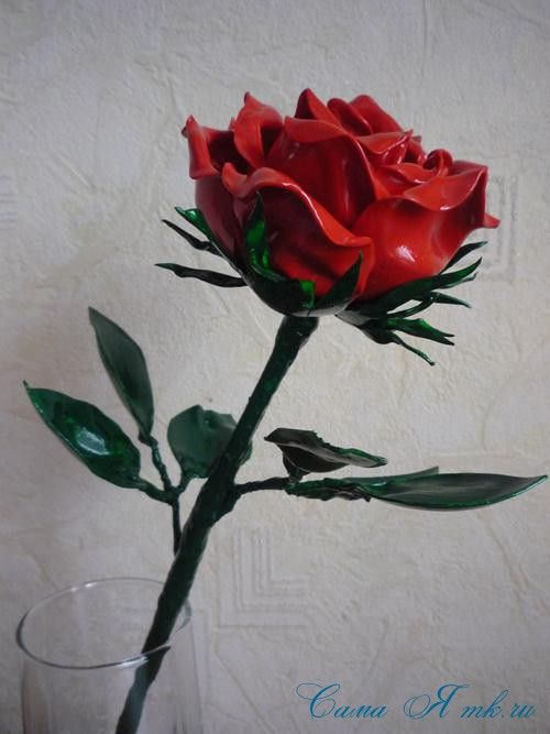 роза картинки из пластика неё половину теста