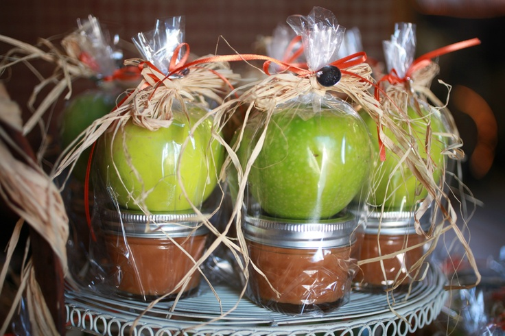 Wedding guest gifts....Apples and Homemade caramel
