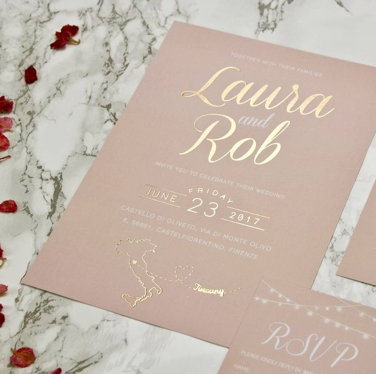Blush And Gold Wedding Invites 309