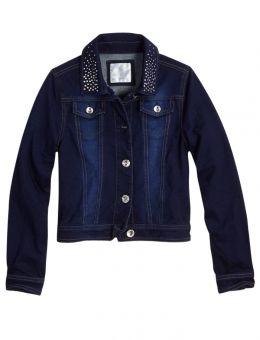 Embellished Knit Denim Jacket