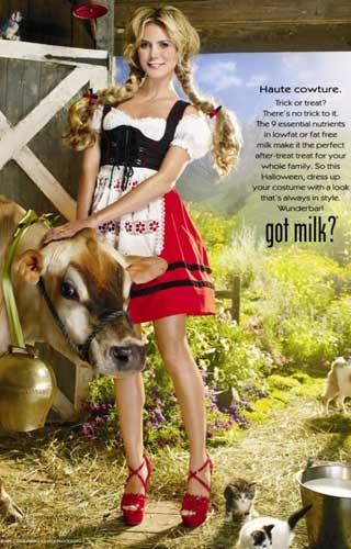 Heidi Klum, Got Milk? Ad | Inspiration for raredirndl.com