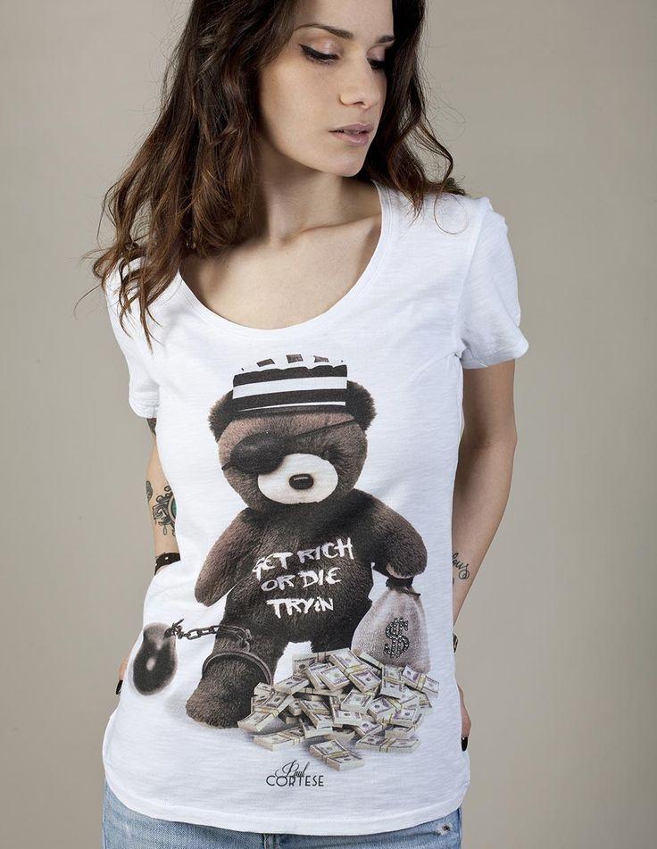 RICH BEAR #woman #tshirt #beartoys #style #fashion #moda #womenfashion #womenstyle #madeinitaly