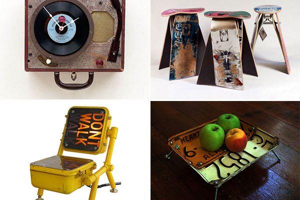 Обзор идей необычного использования старых вещей: реинкарнация в быту  Плюшкину бы немного таланта, и он стал бы хорошим дизайнером. По крайней мере, в области использования в интерьере старых вещей. С легкой творческой руки чемодан может превратиться в настенный шкаф, номерные знаки в столик, а несколько скейтов в табурет. Еще больше информации в нашем обзоре.    старые вещи, дизайн