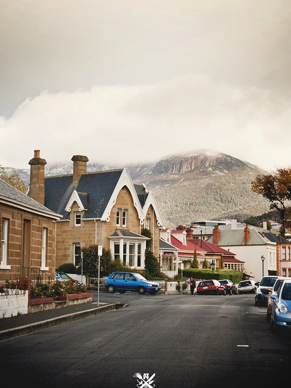 South Hobart, Tasmania with Mount Wellington as the backdrop. I worked just along this street a little bit, a few years ago though.