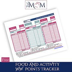 New Printable Available - Food and Activity tracker (for weight watchers)