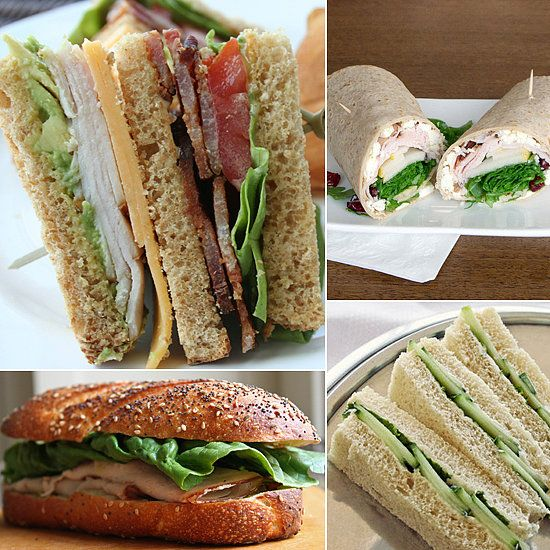 10 Sandwiches that travel well. My favorites are the the finger sandwiches and the lox and cream.