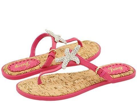 pink starfish sandals