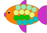 Easy Construction Paper Crafts | Fish Body Fish Parts Fish Scales