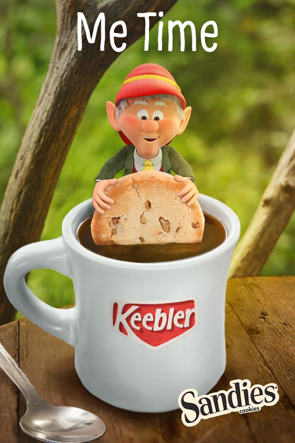 "How do you take your ""me time""? All I need is a peaceful view, a cup of coffee, and some delicious Keebler Pecan Sandies Shortbread cookies!"