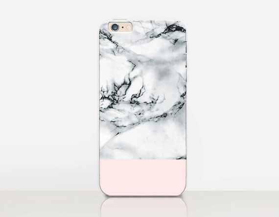 White Marble Print Phone Case iPhone 7 Case iPhone 7 by CRCases
