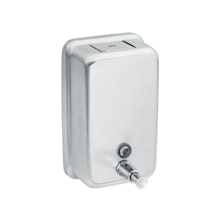 moen 122 stainless soaplotion dispenser from the donner commercial collection stainless commercial bathroom accessories