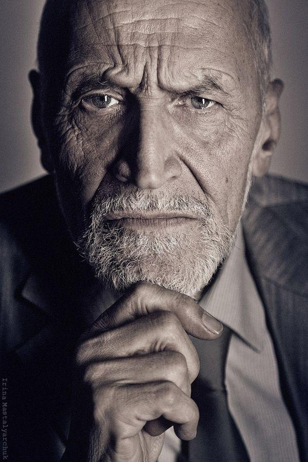 "'Nikolay Drozdov ""mask""' © by Irina Mastalyarchuk. Old man, wrinckles, lines of life, hands, fingers, powerful face, intense eyes, portrait, photo"