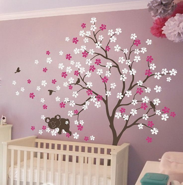 Sweet dream koala bird flower blossom tree wall decals vinyl arts nursery kids baby sticker gifts