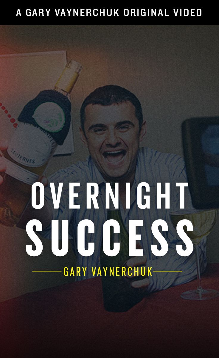 Overnight Success Seems Good on Paper or When You Say it, But in Reality it Doesn't Exist....http://www.slideshare.net/vaynerchuk/overnight-success-gary-vaynerchuk
