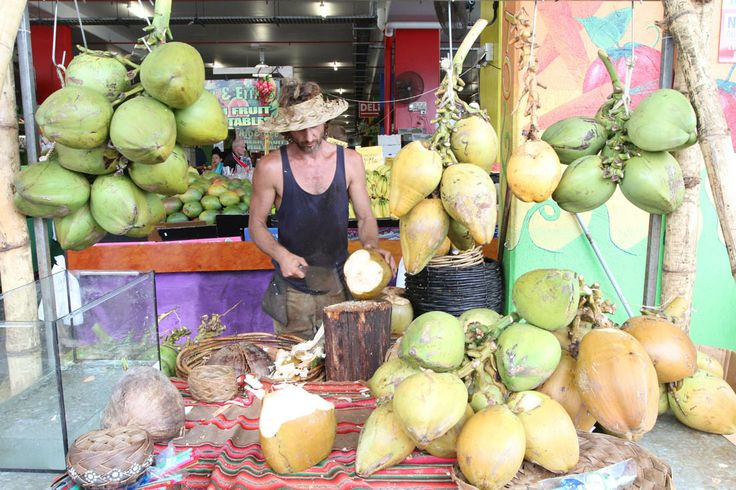 Fresh Coconut Water at Rusty's Markets Cairns - Every Friday, Saturday & Sunday