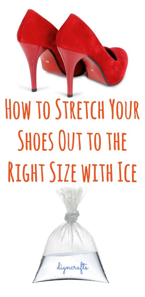 How to Stretch Your Shoes Out to the Right Size with Ice...