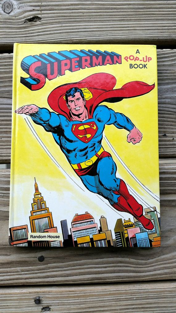 1979 Superman Pop-Up Book Interactive by CharmstruckVintage