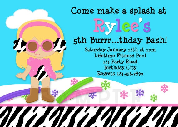 93 best images about Pool Party – Winter Pool Party Invitations