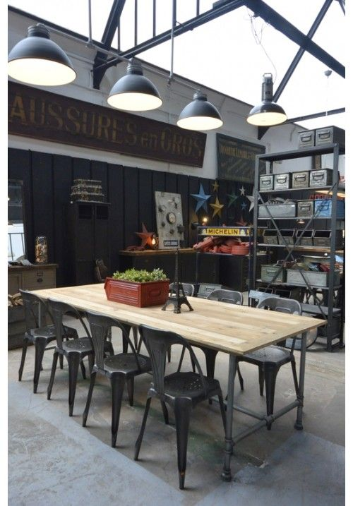 17 meilleures id es propos de tables industrielles sur for Table a diner industrielle