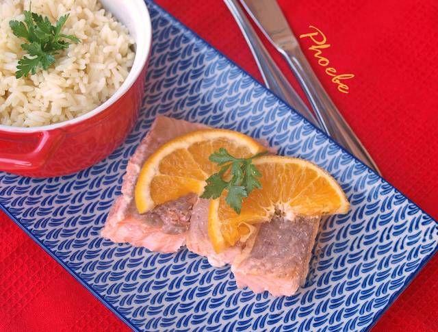 Σολομός στο φούρνο με πορτοκάλι #cookpadgreece #solomos #fournou