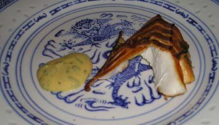 Het recept voor gerookte vis op zijn Chinees. Nog een beetje aanpassen...