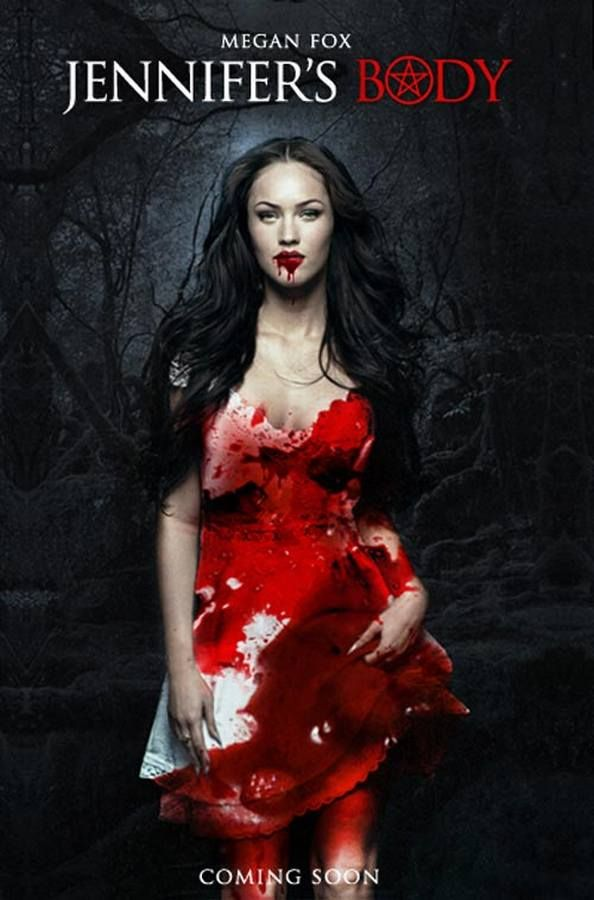 """""""Jennifer's Body"""" starring Megan Fox. Her best--possibly her only good--performance. Great poster design."""